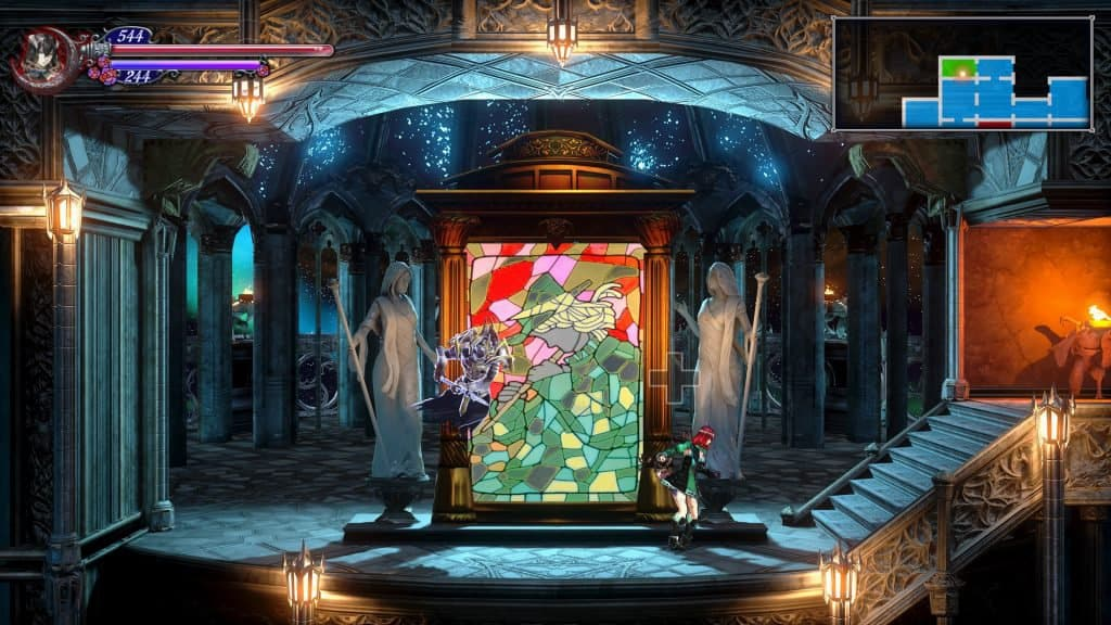 An image of gameplay from Bloodstained Ritual of the Night