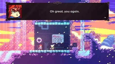 An image showing gameplay from celeste