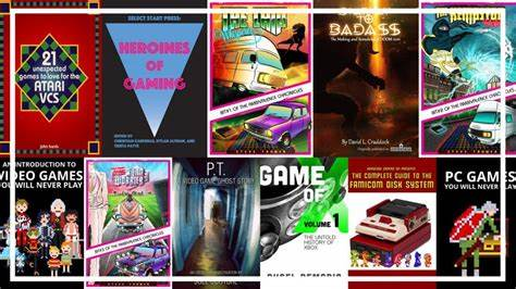 An image of multiple gaming catalogues through the ages