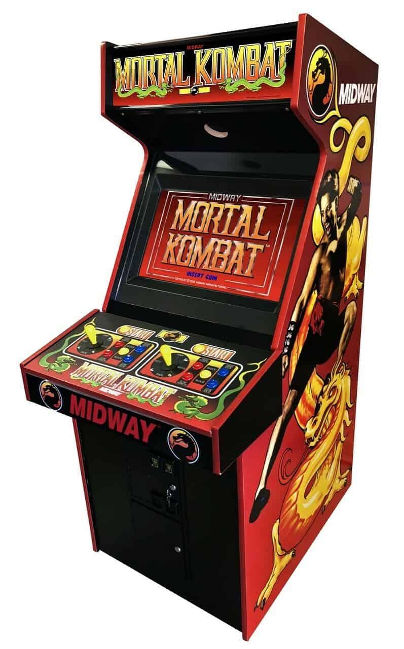 An image of a Mortal Kombat arcade machine