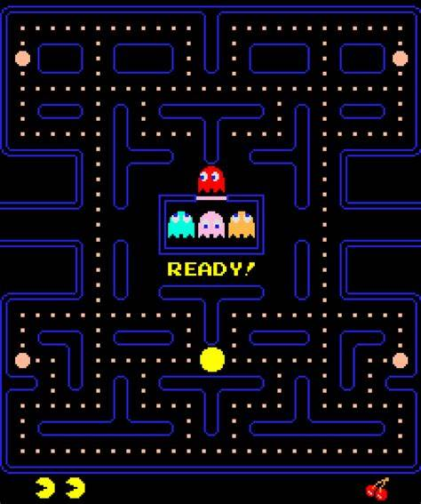 An image of pacman being played
