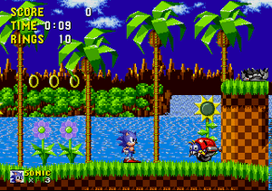 An image of a level from sonic