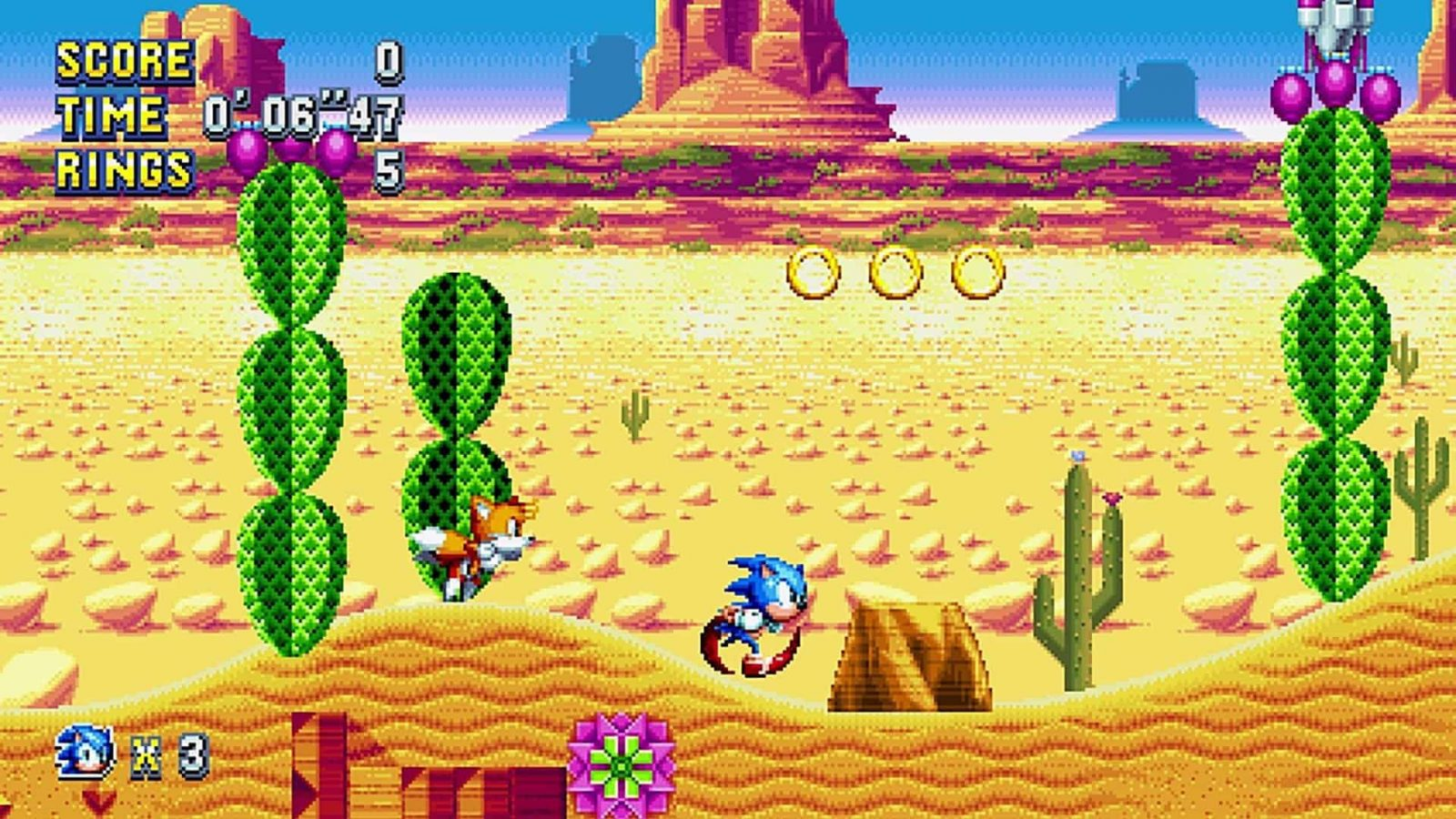 An image showing gameplay from sonic mania