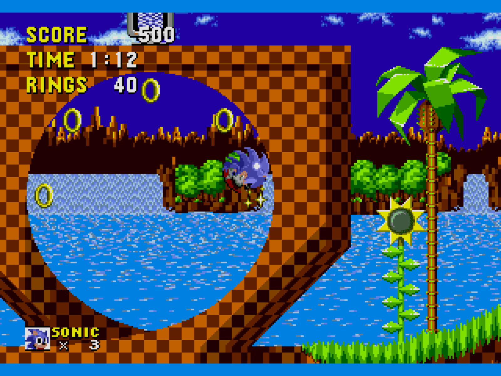 An image showing sonic being played