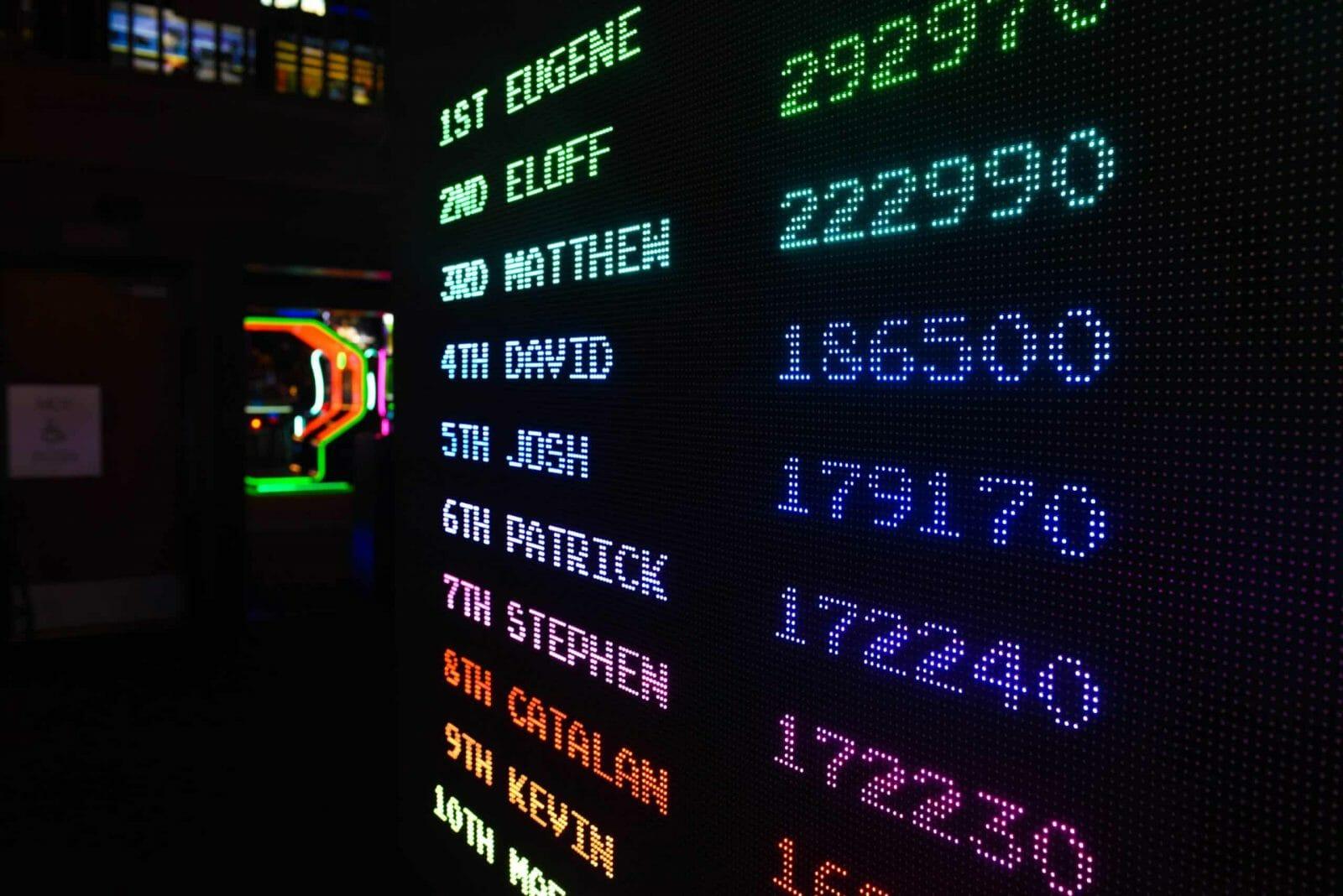 An image showing a scoreboard